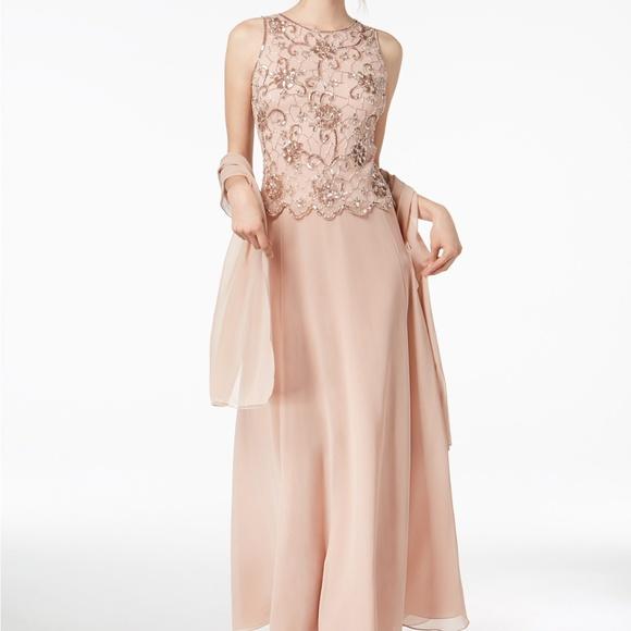 e0b0401483bd J Kara Dresses | Sleeveless Beaded Gown Blush Size 6 | Poshmark